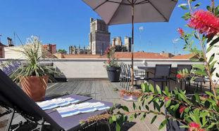 Rooftop apartment rental in Beziers Southern France