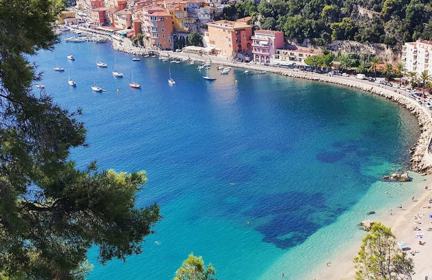 villefranche beach france