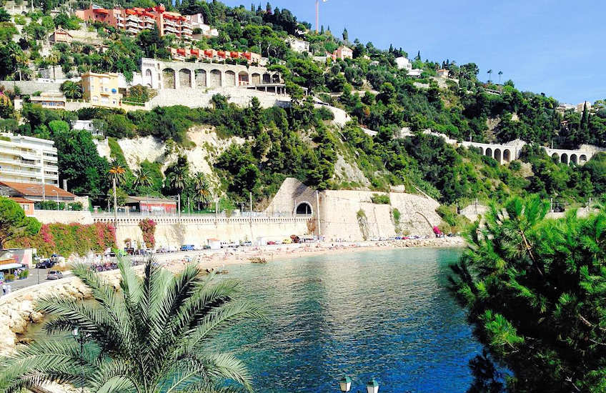 villefranche beaches france